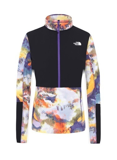 The North Face Diablo Midlayer Yarım Fermuarlıkadın Polar Print Mor